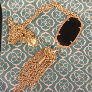 Kendra Scott Rayne necklace - black and gold